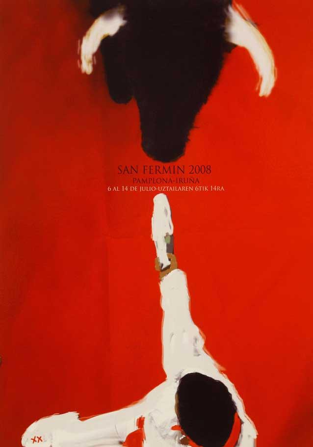 El cartel 'Con tacto', del pamplonés Miguel Ángel Antoñanzas, anunciará los Sanfermines 2008