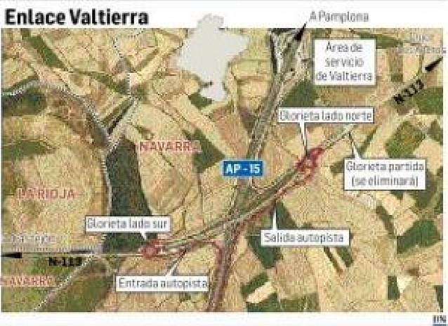 Aprobado el proyecto del nuevo enlace con la AP-15 en Valtierra