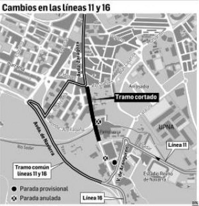 Nuevas rutas de autobús en la avenida Zaragoza