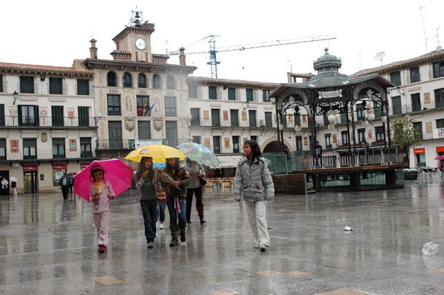 La lluvia deja más de 30 l/m2 en Pamplona
