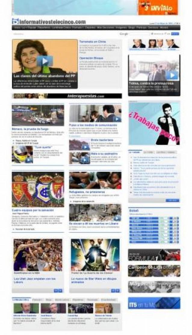 Telecinco y Antena 3 impulsan los informativos en Internet