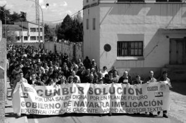 Cunbur de Cascante reduce su plantilla a la mitad tras el despido de 40 empleados