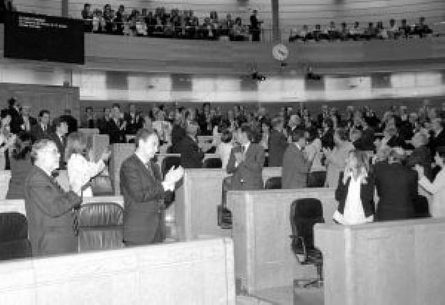 Zapatero destaca en el Senado la rectitud y la pasión de Carlos Chivite