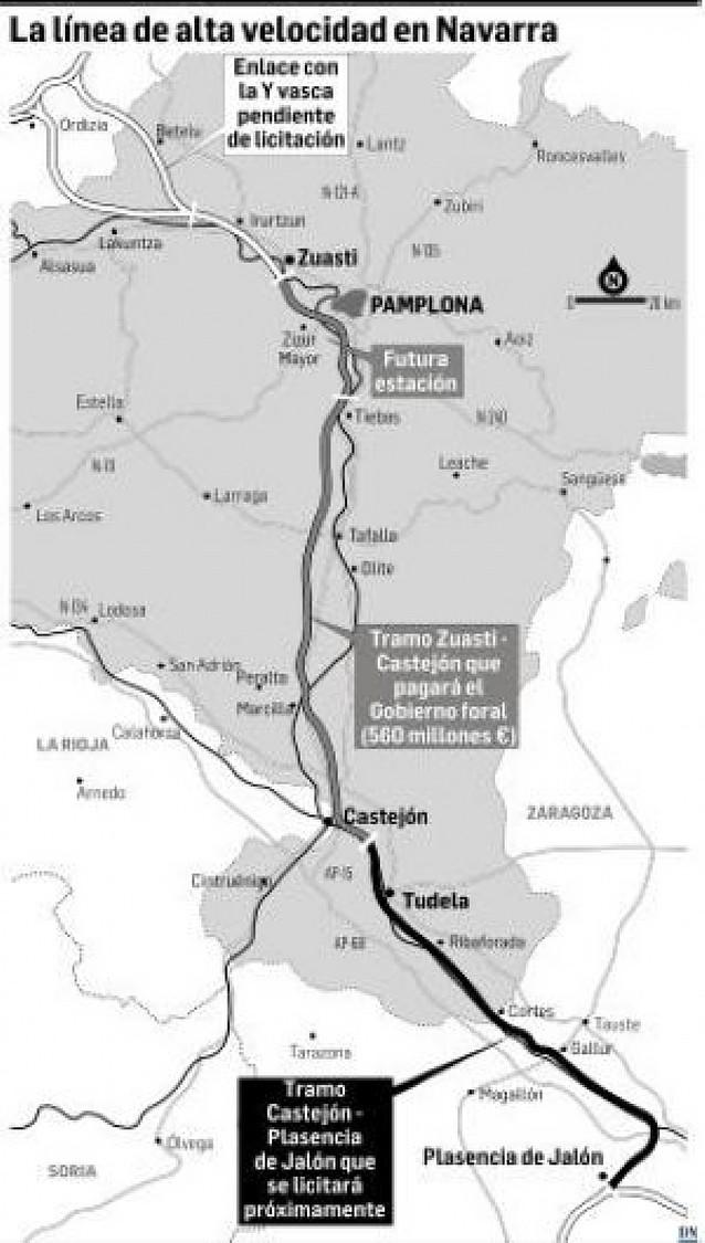 Fomento adjudica la redacción del tramo entre Plasencia de Jalón y Tudela