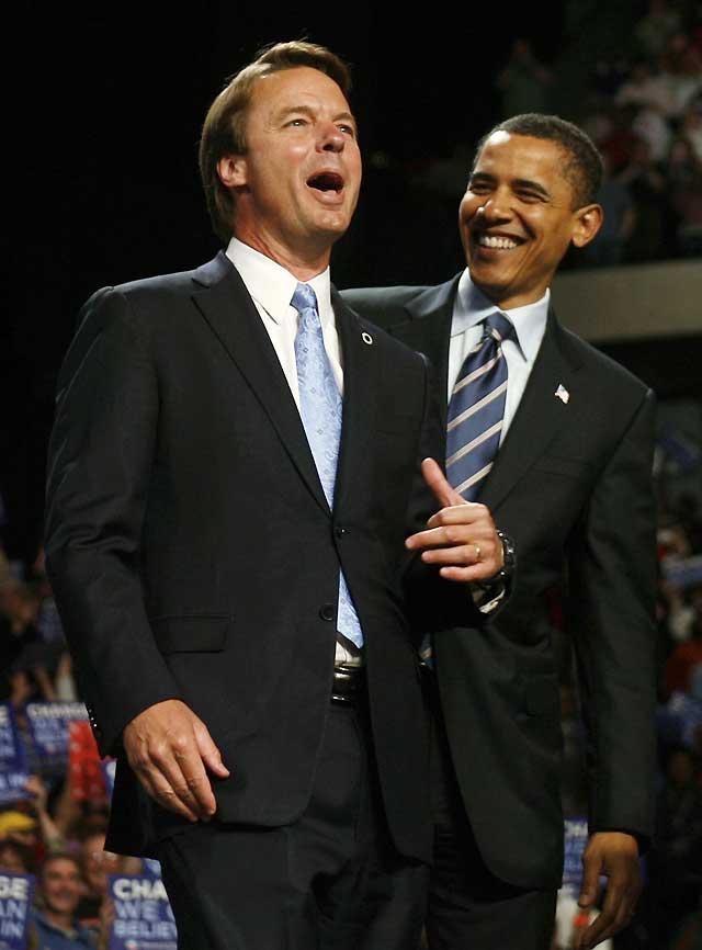 John Edwards anuncia su apoyo a la candidatura de Barack Obama
