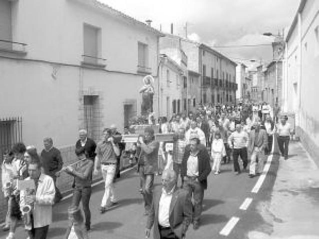 Azagra, Lazagurría y San Adrián honraron al santo en procesiones