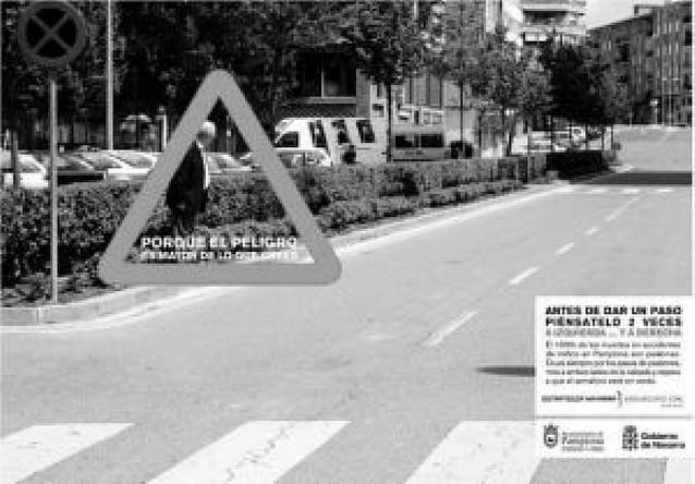 Una campaña tratará de reducir los 166 atropellos al año de Pamplona
