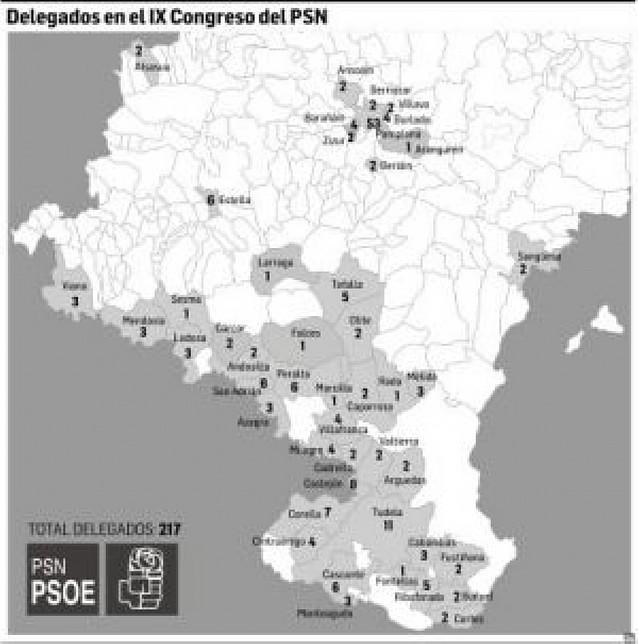 El PSN decide esta semana los 217 delegados que irán al congreso