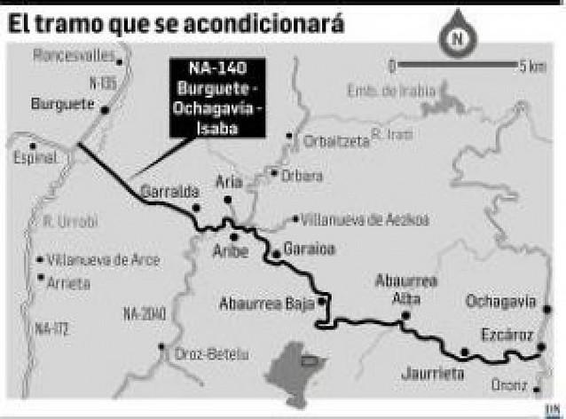 Autorizada la mejora de los 32 km de carretera entre Burguete y Ezcároz