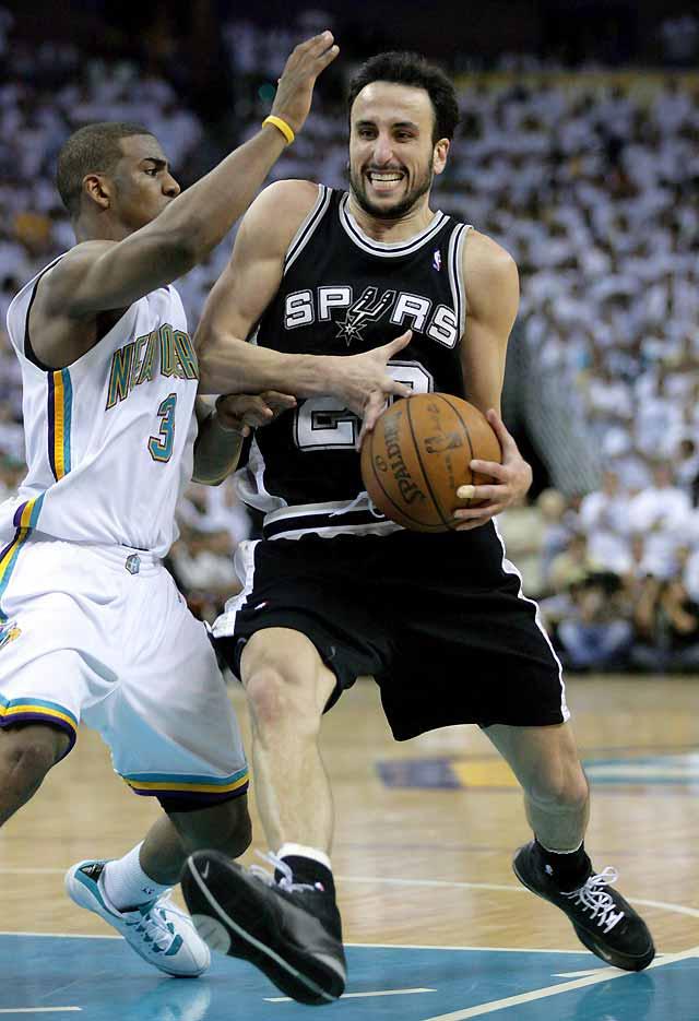 Ginóbili impuso su ley ante los Hornets y los Spurs disputarán un puesto en la final a los Lakers