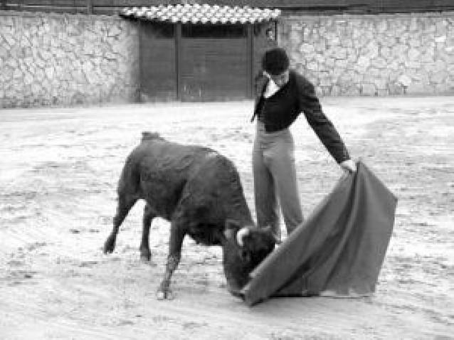 Los toreros navarros Marco y Expósito tentaron en la finca burgalesa de Bañuelos