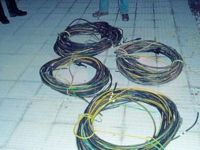 Dos detenidos en Zizur y Biurrun por robar cable de cobre