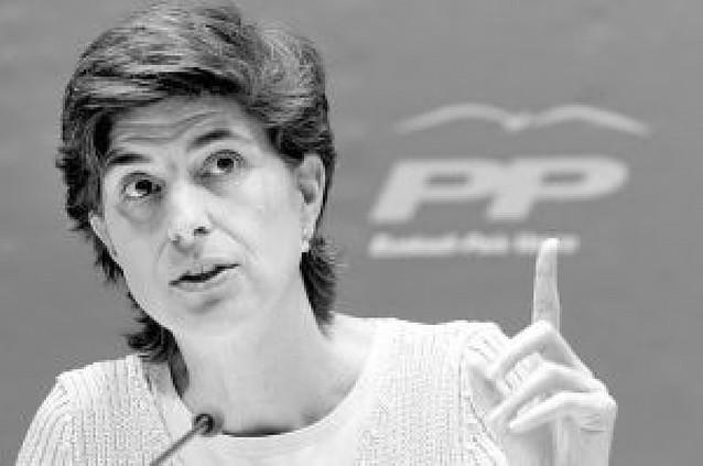 María San Gil dejará la presidencia del PP vasco y abandona a Rajoy