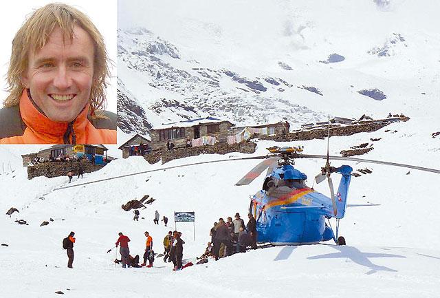 Ochoa de Olza ya recibe la ayuda del montañero suizo