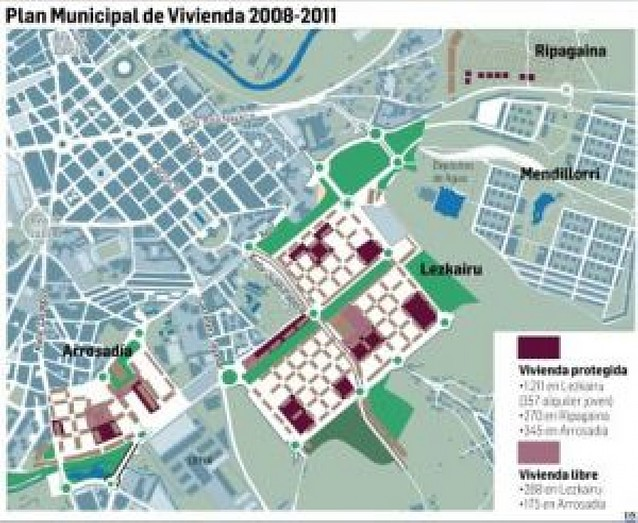Pamplona prevé 1.826 viviendas protegidas hasta el año 2011