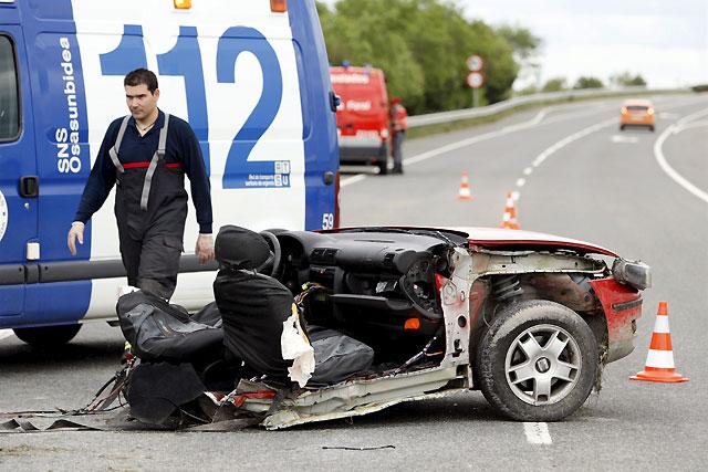 Dos personas fallecen en un accidente de tráfico en la N-121 a su paso por Olite