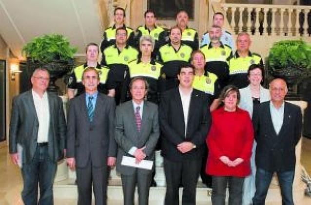 La policía local de San Adrián participa en un curso de gestión y mando en Tudela