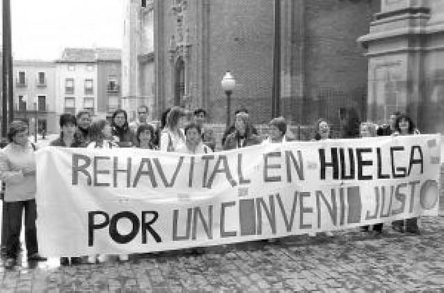 Las 67 trabajadoras de Rehavital cumplen más de dos meses de huelga