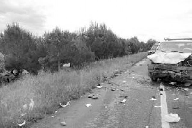 Dos fallecidos en un accidente en Olite
