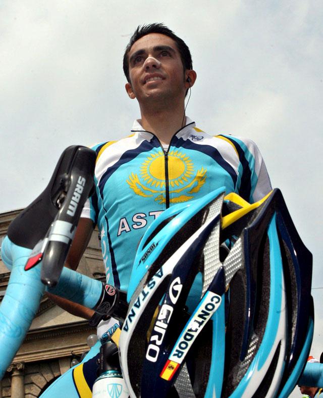 Contador se sitúa a 5 segundos de la maglia rosa tras la primera etapa de montaña