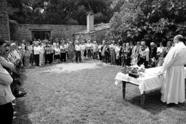 Los vecinos de Olite honraron a Santa Brígida