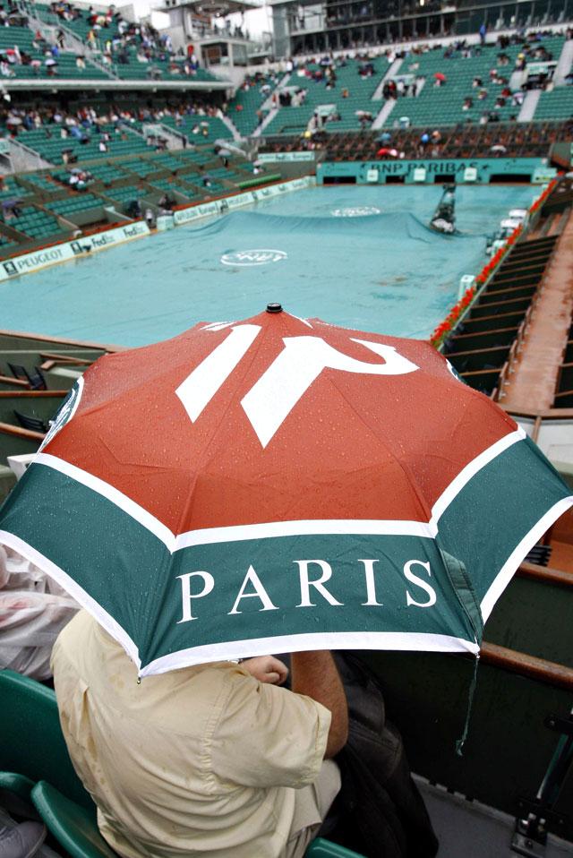 La lluvia aplaza el inicio de la tercera jornada de Roland Garros