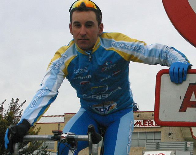 Daniel Sesma (Orbea), primer líder de la Vuelta Ciclista a Navarra