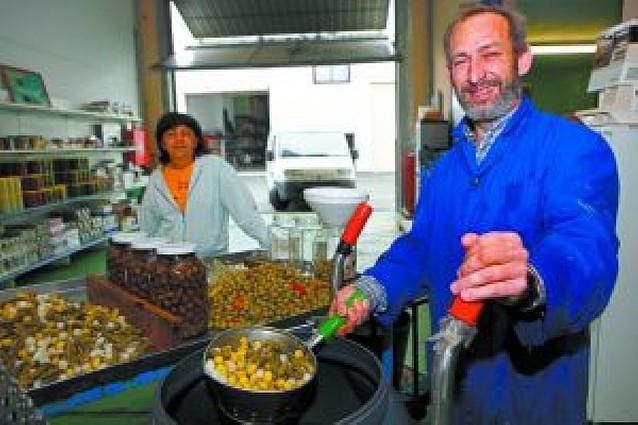 Aceitunas extremeñas aliñadas en Estella