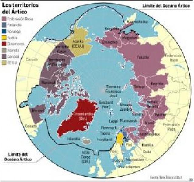 Los países del Ártico aseguran que no pelearán por dominar el Polo Norte