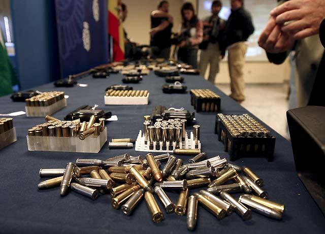 La Policía se incauta en Sevilla de 33 armas de fuego y abundante munición