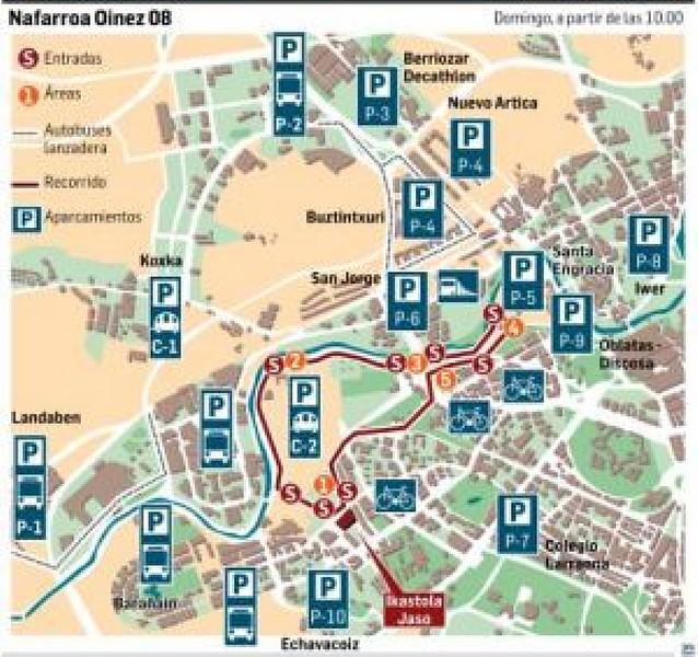 El recorrido del Nafarroa Oinez pasará el domingo por cuatro barrios de Pamplona