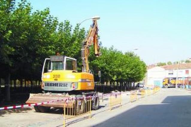 Las obras en el paseo del Ebro de San Adrián habilitarán 80 plazas de aparcamiento