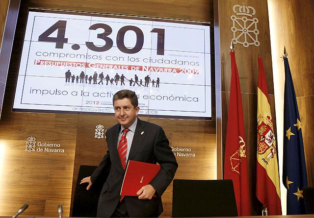 Los Presupuestos de Navarra para 2009 contemplan un gasto medio por ciudadano de 7.100 euros