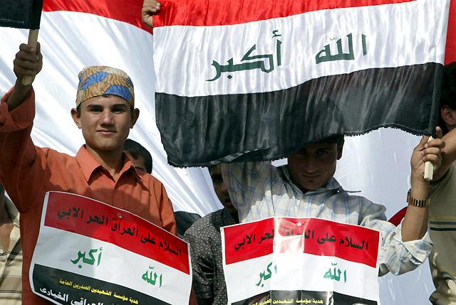 Miles de seguidores de al Sadr protestan contra el pacto de seguridad entre Irak y EEUU