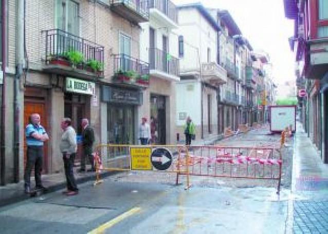Las obras de la calle Mayor de Sangüesa se realizarán en dos fases