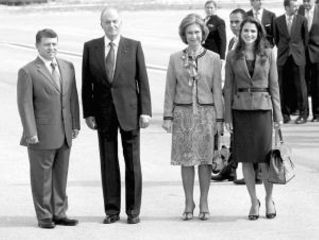 Visita relámpago de Abdalá II y Rania de Jordania a España