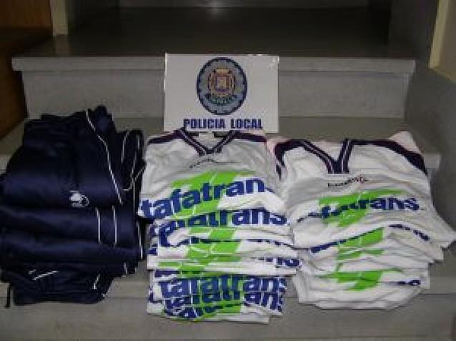 Detenidos por robar la ropa de un equipo de fútbol sala de Tafalla