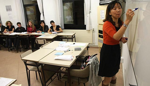 """""""Lleno"""" en los cursos de chino"""