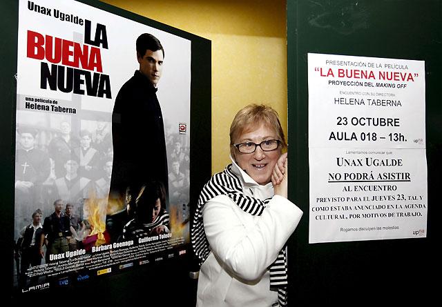 """Helena Taberna presenta en la UPNA """"La buena nueva"""""""
