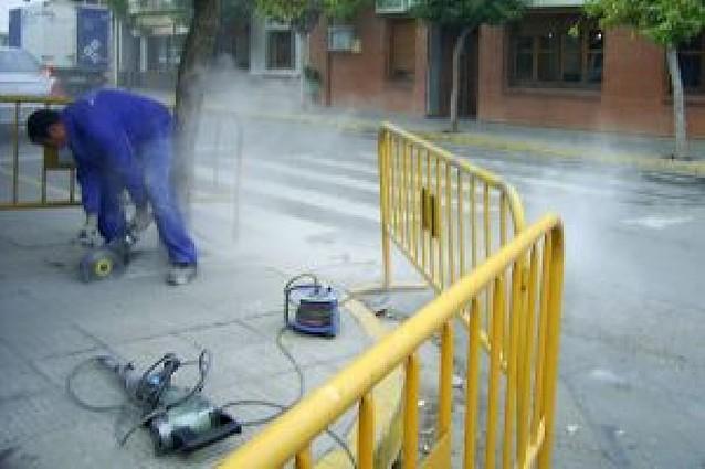 Obras de rebaje de 20 aceras en el centro del casco urbano