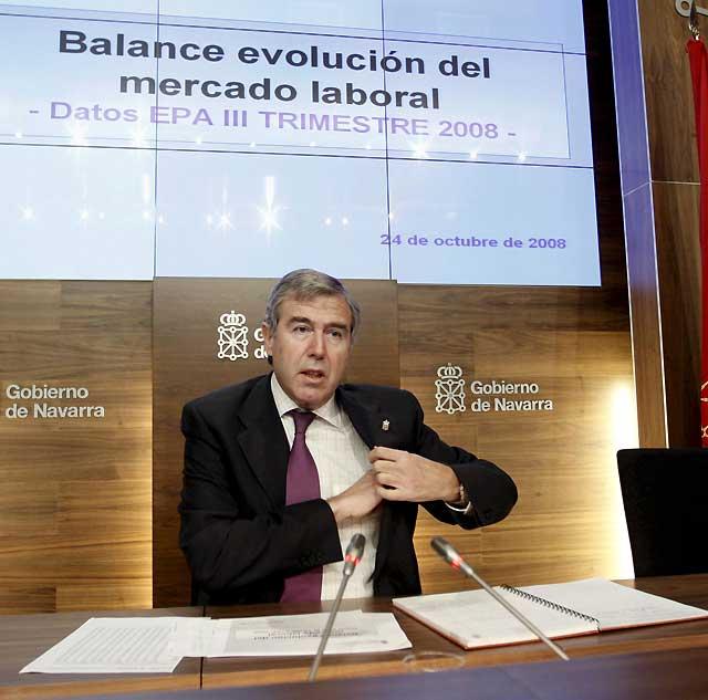 Roig dice que los datos del paro en Navarra son malos aunque destaca que se crea empleo