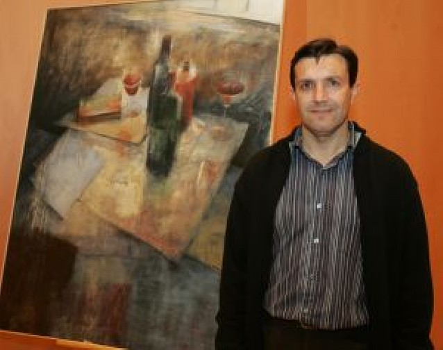 """Jesus Ukar, premio Villa de Aoiz de pintura con la obra """"La realidad sugerida"""""""