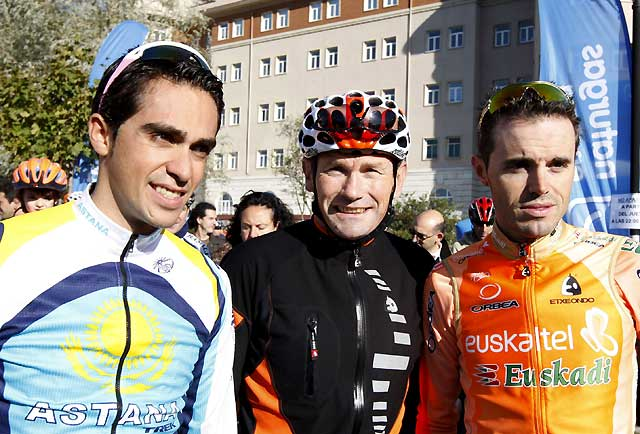 Samuel Sánchez y Alberto Contador encabezan la VI Fiesta de la Bicicleta