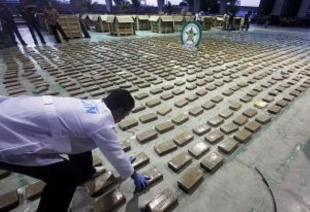 La policía colombiana decomisa 10,5 toneladas de cocaína