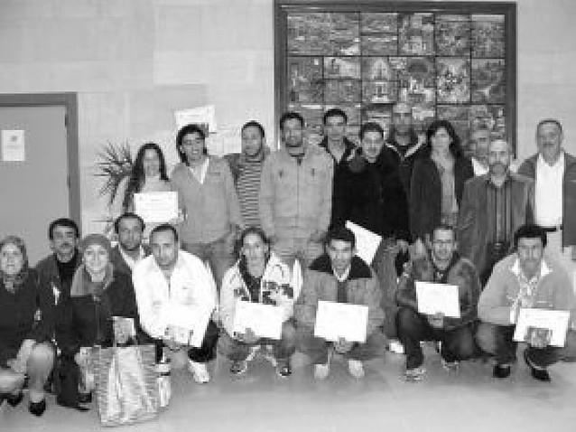Diplomas en Mendavia para 19 extranjeros alumnos de castellano