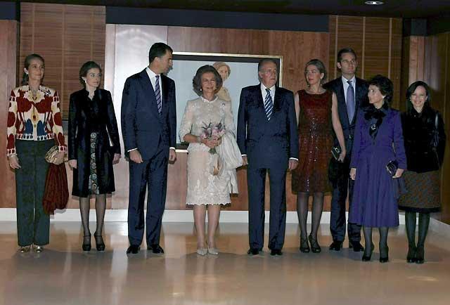 La Familia Real acompaña a la Reina a un concierto con motivo de su 70 cumpleaños