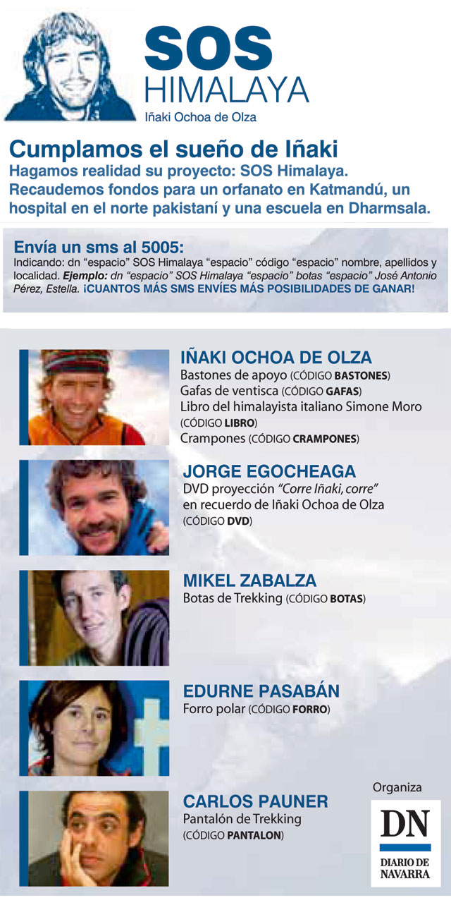 Alpinistas de elite donan objetos por solidaridad