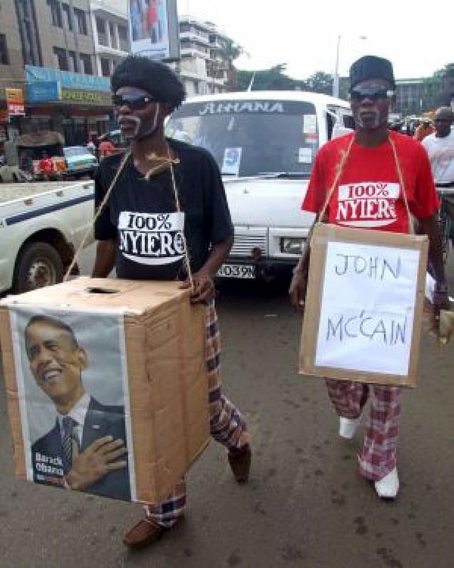 Fiesta keniata en Kogelo
