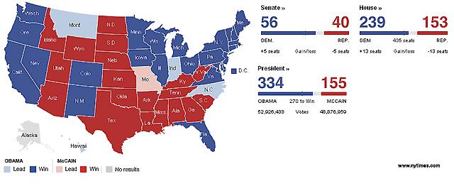 Obama será el próximo presidente de EE UU