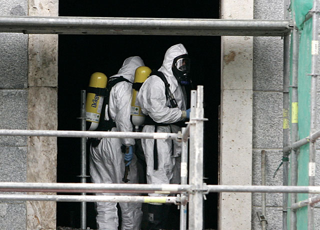 Dieciséis de los 33 ingresados en Pamplona por la inhalación de gases en la UN son dados de alta